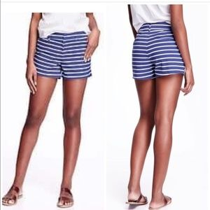 Old Navy Pixie Blue & White Striped Shorts